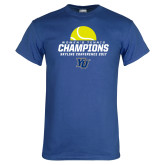 Royal T Shirt-2017 Womens Tennis Skyline Conference Champions