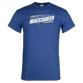 Royal T Shirt-Slanted Maccabees Stencil