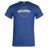 Royal T Shirt-Maccabees Basketball Arched