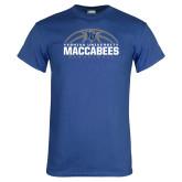 Royal T Shirt-Maccabees Basketball Half Ball