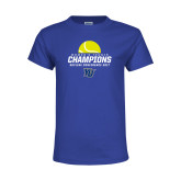 Youth Royal T Shirt-2017 Womens Tennis Skyline Conference Champions