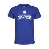Youth Royal T Shirt-2018 Mens Basketball Champions