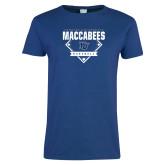 Ladies Royal T Shirt-Maccabees Baseball Diamond