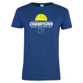 Ladies Royal T Shirt-2017 Womens Tennis Skyline Conference Champions
