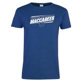 Ladies Royal T Shirt-Slanted Maccabees Stencil