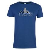 Ladies Royal T Shirt-Primary Logo Distressed