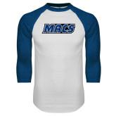 White/Royal Raglan Baseball T Shirt-Macs