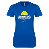 Next Level Ladies SoftStyle Junior Fitted Royal Tee-2017 Womens Tennis Skyline Conference Champions