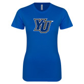 Next Level Ladies SoftStyle Junior Fitted Royal Tee-YU