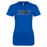 Next Level Ladies SoftStyle Junior Fitted Royal Tee-Macs