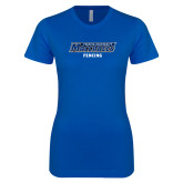 Next Level Ladies SoftStyle Junior Fitted Royal Tee-Fencing
