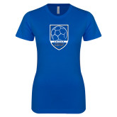 Next Level Ladies SoftStyle Junior Fitted Royal Tee-Maccabees Soccer Shield