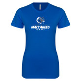 Next Level Ladies SoftStyle Junior Fitted Royal Tee-Maccabees Tennis Stacked