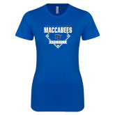 Next Level Ladies SoftStyle Junior Fitted Royal Tee-Maccabees Baseball Diamond