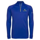 Under Armour Royal Tech 1/4 Zip Performance Shirt-Primary Logo