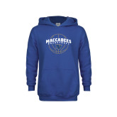 Youth Royal Fleece Hoodie-Maccabees Basketball Arched