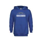 Youth Royal Fleece Hoodie-Maccabees Basketball Half Ball