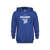 Youth Royal Fleece Hoodie-Maccabees Basketball Net