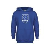 Youth Royal Fleece Hoodie-Maccabees Soccer Shield