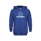 Youth Royal Fleece Hoodie-Maccabees Soccer Lined Ball