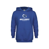 Youth Royal Fleece Hoodie-Maccabees Tennis Stacked