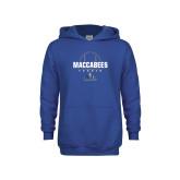 Youth Royal Fleece Hoodie-Maccabees Tennis Half Ball