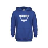 Youth Royal Fleece Hoodie-Maccabees Baseball Diamond