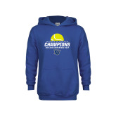 Youth Royal Fleece Hoodie-2017 Womens Tennis Skyline Conference Champions