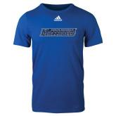 Adidas Royal Logo T Shirt-Yeshiva University Maccabees