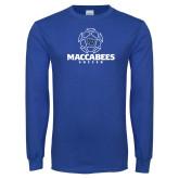 Royal Long Sleeve T Shirt-Maccabees Soccer Lined Ball