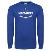 Royal Long Sleeve T Shirt-Maccabees Baseball Plate