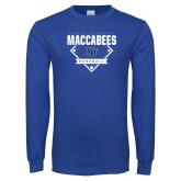 Royal Long Sleeve T Shirt-Maccabees Baseball Diamond