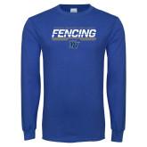 Royal Long Sleeve T Shirt-Maccabees Fencing Bar
