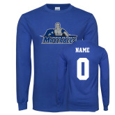 Royal Long Sleeve T Shirt-Primary Logo, Personalized Name and #