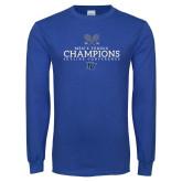 Royal Long Sleeve T Shirt-2018 Skyline Mens Tennis Champions