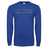 Royal Long Sleeve T Shirt-Yeshiva University Maccabees