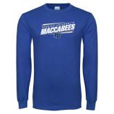 Royal Long Sleeve T Shirt-Slanted Maccabees Stencil