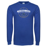 Royal Long Sleeve T Shirt-Maccabees Basketball Arched