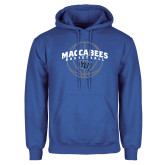Royal Fleece Hoodie-Maccabees Basketball Arched
