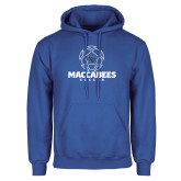 Royal Fleece Hoodie-Maccabees Soccer Lined Ball