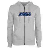 ENZA Ladies Grey Fleece Full Zip Hoodie-Macs
