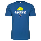 Next Level SoftStyle Royal T Shirt-2017 Womens Tennis Skyline Conference Champions