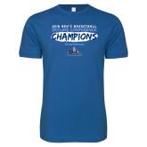 Next Level SoftStyle Royal T Shirt-2018 Mens Basketball Champions