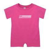 Bubble Gum Pink Infant Romper-Yeshiva University Maccabees