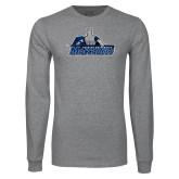 Grey Long Sleeve T Shirt-Primary Logo