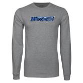 Grey Long Sleeve T Shirt-Yeshiva University Maccabees