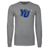 Grey Long Sleeve T Shirt-YU
