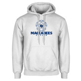 White Fleece Hoodie-Maccabees Soccer Lined Ball