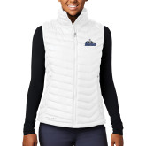 Columbia Lake 22 Ladies White Vest-Primary Logo