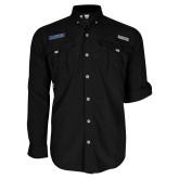 Columbia Bahama II Black Long Sleeve Shirt-Yeshiva University Maccabees